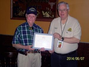 Certificate of Appreciation Presentation