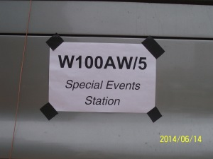 Special Event Amateur Radio Station Sign on Denton County Vehicle at Ham-Com 2014