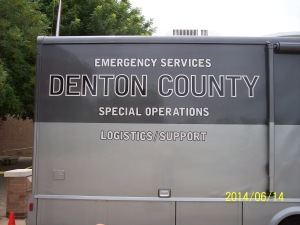 Denton County - Emergency Services - Special Operations - Logistics Support vehicle at Ham-Com 2014